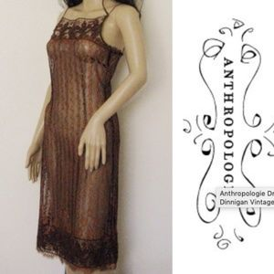 Collette Dinnigan Vintage Lace Slip Dress